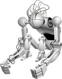 Sitting robot Stock Images
