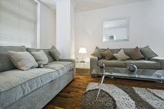 Sitting room. With two comfortable sofas Stock Images