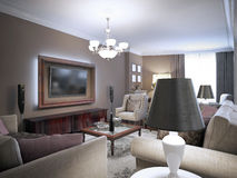 Sitting room classic design Royalty Free Stock Images