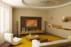 Sitting room interior royalty free stock photos