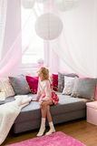 Sitting in room Royalty Free Stock Images