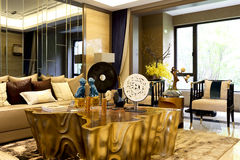 The sitting room of luxury complex Stock Image