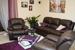Sitting room in modern home royalty free stock image