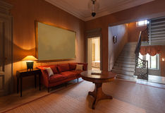 Sitting room on the  passage Royalty Free Stock Photography