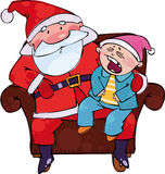 Sitting with Santa Royalty Free Stock Photography