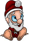 Sitting Santa Claus Stock Photography