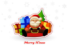 Sitting Santa with presents Stock Photography