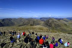 Sitting on Scafell Royalty Free Stock Image