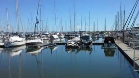 Scarborough Marina royalty free stock photography