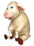 Sitting Sheep  cartoon character Royalty Free Stock Photography