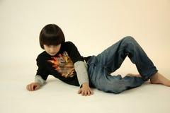 Sitting, Shoulder, Boy, Child Stock Images