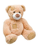 Sitting sideways teddy bear Stock Images