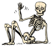 Sitting skeleton Royalty Free Stock Images