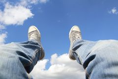 Sitting in the sky Royalty Free Stock Image