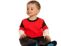 Sitting smiling toddler Stock Photos