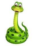 Sitting Snake cartoon character Stock Photos