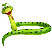 Sitting Snake cartoon character Stock Photography