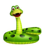 Sitting Snake cartoon character Stock Image