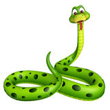 Sitting Snake cartoon character Royalty Free Stock Photography
