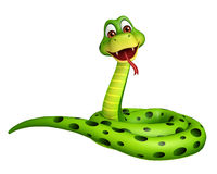 Sitting Snake cartoon character Royalty Free Stock Photos