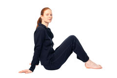 Sitting in Sport Clothes Stock Photography