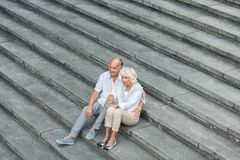 Sitting on the stairs Stock Photography