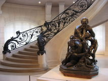 Sitting Statue and Stairs in Petit Trianon - Paris Royalty Free Stock Images