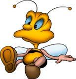 Sitting stunned wasp Royalty Free Stock Photo
