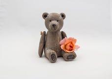 Sitting teddy bear Royalty Free Stock Photo