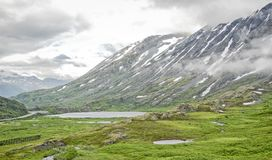 Sitting on Top of the World. Interior Alaska is full of many rugged terrains.  However, despite its extremes, there are many beautiful sights.  The top of Stock Photo