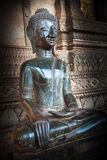 Sitting Vintage Buddha Image Stock Photography