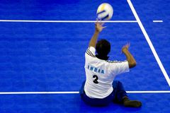Sitting Volleyball for the Disabled royalty free stock image