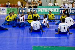 Sitting Volleyball for the Disabled Royalty Free Stock Photo