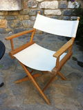 Sitting waiting to empty portable chair Stock Photography