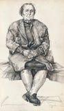Sitting woman vector illustration