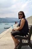 Sitting woman Stock Photography