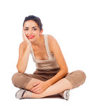 Sitting Woman Royalty Free Stock Photo