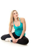 Sitting woman relax Stock Photo