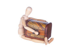 Sitting wooden dummy Royalty Free Stock Photo