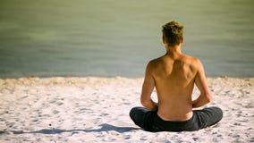 Sitting yoga Royalty Free Stock Photo