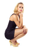 Sitting young woman Royalty Free Stock Image