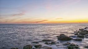 Sittpinnen vaggar fyren nya Brighton Wirral England UK Fotografering för Bildbyråer