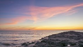 Sittpinnen vaggar fyren nya Brighton Wirral England UK Arkivfoton