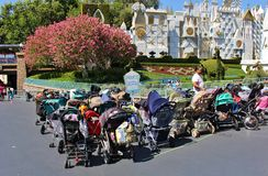 Sittvagnparkering, Disneyland arkivbilder
