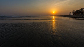 Sittwe plaża Fotografia Stock