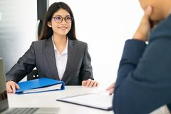 Situação de negócio, conceito da entrevista de trabalho fotos de stock