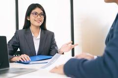 Situação de negócio, conceito da entrevista de trabalho imagens de stock royalty free