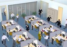 Situação do escritório ilustração stock