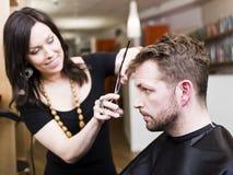 Situação do salão de beleza do cabelo foto de stock