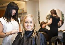 Situação do salão de beleza do cabelo Fotografia de Stock